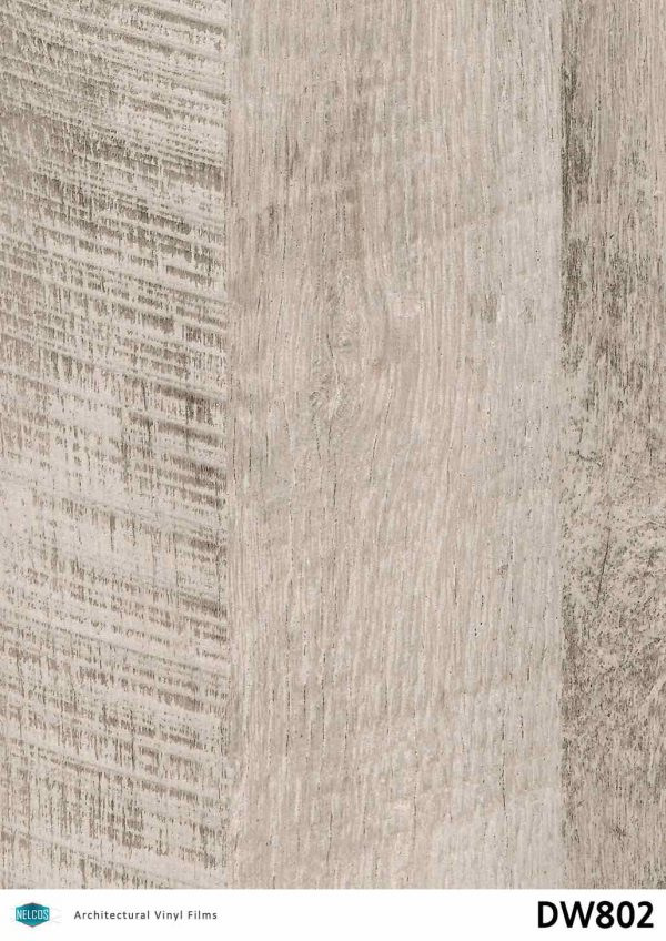 DW802 Weathered Gray Architectural Film - Wood Collection