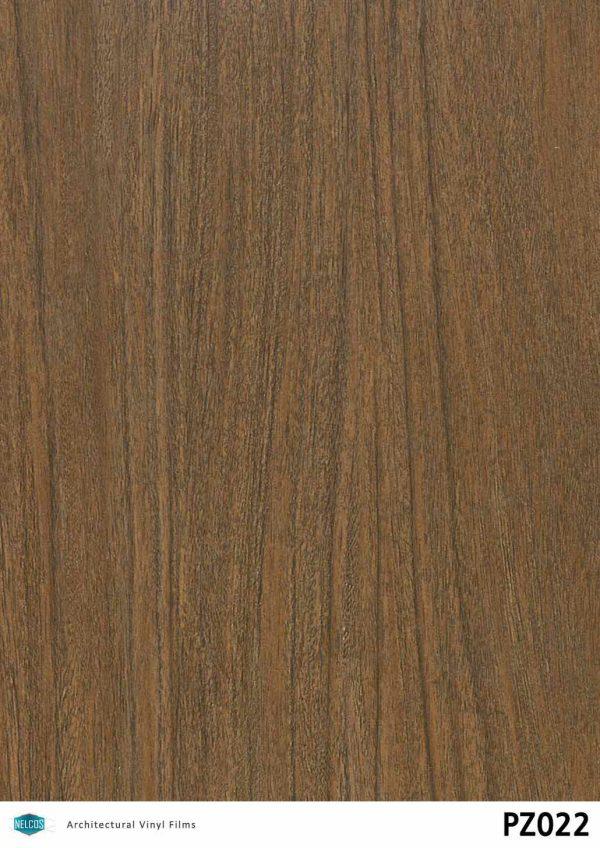 PZ022 Walnut Dark Wood Interior Film - Wood Collection