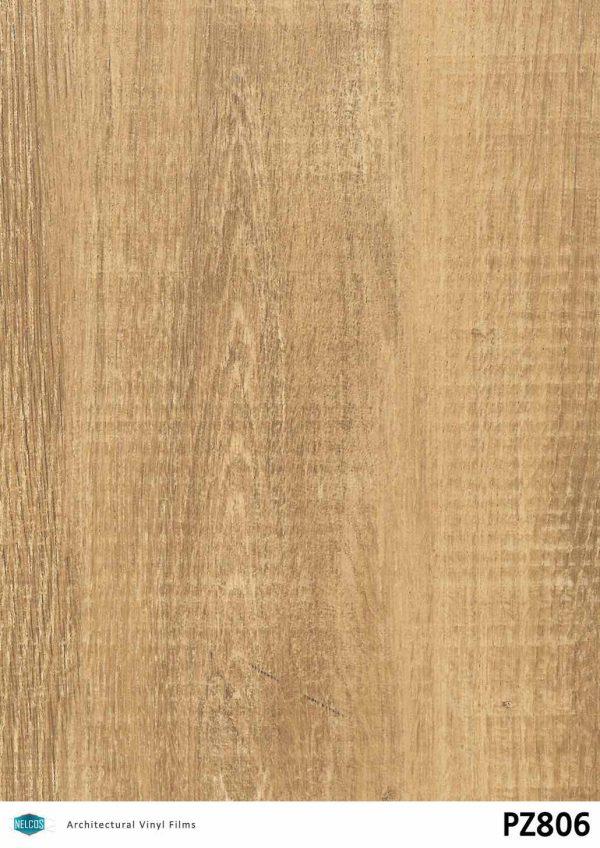 PZ806 Oak Medium Wood Interior Film - Wood Collection