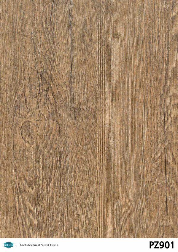 PZ901 Oak Medium Wood Interior Film - Wood Collection