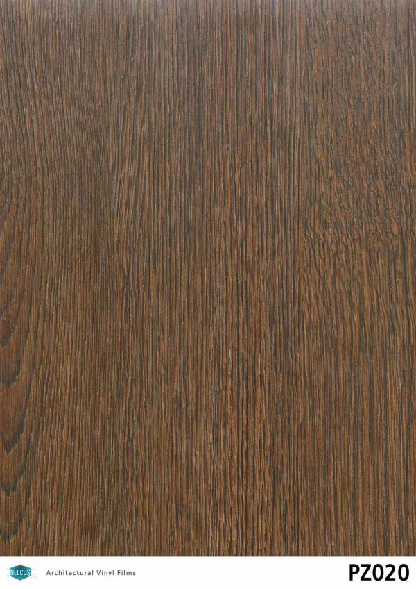 PZ020 Oak Dark Wood Interior Film - Wood Collection